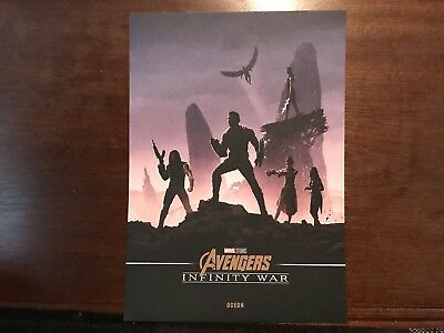 Marvel Avengers Infinity War A4 Poster Odeon Exclusive Captain America Shuri