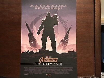 Marvel Avengers Infinity War A4 Poster Odeon Exclusive Thanos