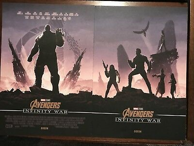 Marvel Avengers Infinity War A4 Posters Odeon Exclusive Thanos Captain America