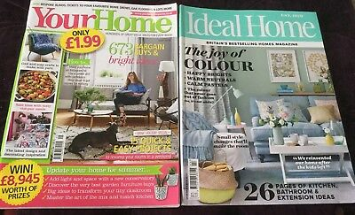 HOME MAGAZINE BUNDLE - Ideal Home April 2017 & Your Home May 2018
