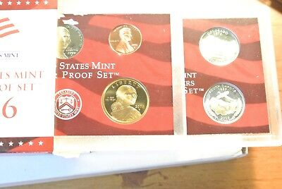 OGP 10 coins 2000 US Mint Silver  Proof set  90/% state Quarters Kennedy