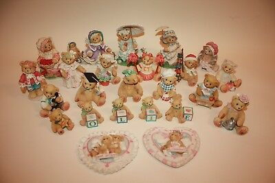 Lot of 24 CHERISHED TEDDIES Collectible Statues Limited Edition 1990's Pre-Owned
