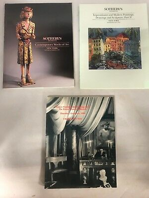 Modern Art Sculpture Paintings Lot of 3 Sotheby's Christie's Catalogues Auction
