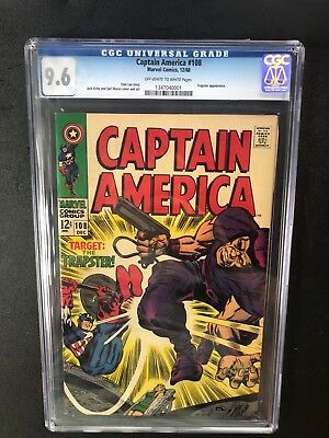 Captain America 108 !! Cgc 9.6 !! Classic S.a.! Ow/w Pages !! Awesome !!