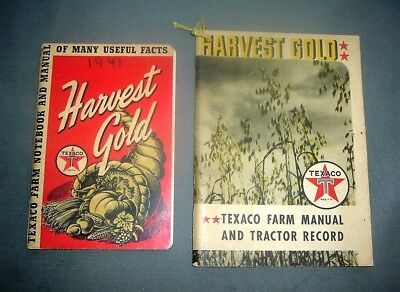 2 Harvest Gold Texaco Farm Manuals 1941-1942 agriculture