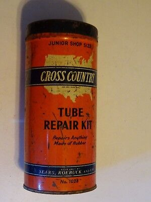 Vintage Metal Cross Country Tube Repair Kit,Sears Roebuck and Company