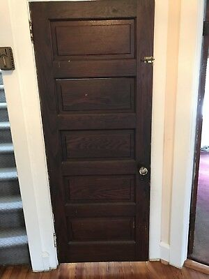 Antique Wood Door 5 Panel (9 Available)