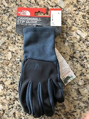 New The North Face Canyonwall Etip Gloves NF0A2T84VBE-L MSRP $40.00 Unisex Navy