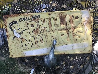 """********** CALL FOR PHILIP MORRIS SIGN ,27""""wide X 14 1/2 Tall ********"""