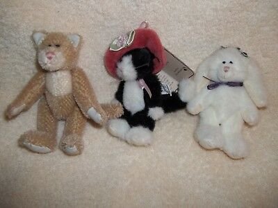 Adorable 3 Mini Boyds Bears and Friends Plush Animals