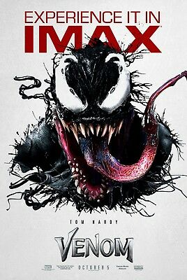 "Venom Movie IMAX Poster Tom Hardy 2018 Marvel HQ Art Print 14×21"" 27×40"" 48×32"""