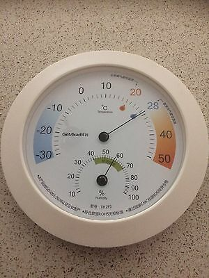 2 in 1 200mm Quality Creamy White  Finish  -Temperature - Hygrometer