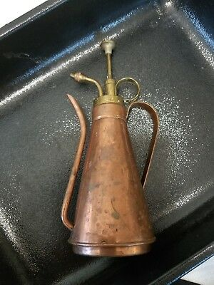 """Copper and Brass Watering Can Mister..8"""" tall"""