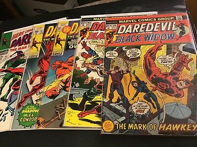Daredevil 5 Issue Lot VG/VG+ Lot 42 75 80 99 103