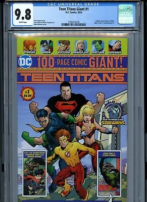 Teen Titans Giant #1 CGC 9.8 (DC, 2018) Wal-Mart exclusive edition 100 Pages