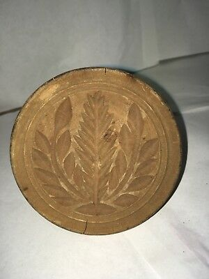 Vintage Butter Mold Print Wheat