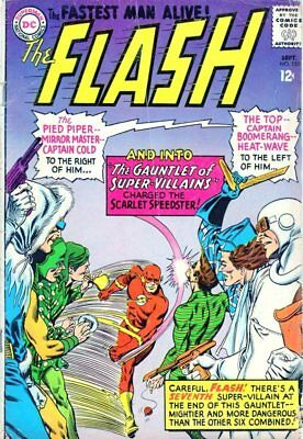 The FLASH #155 Gauntlet of Super Villains Rogues Gallery Grodd 1965 Silver Age