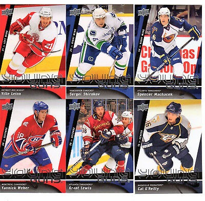 2009-10 Upper Deck Hockey Young Guns You Pick One or More Rookie Cards from list