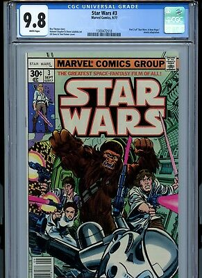 """Star Wars #3 (Marvel, September 1977) CGC 9.8 Part 3 of """"A New Hope"""""""
