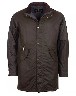 Barbour Men's Olive (Brown) Hall Waxed Cotton Jacket