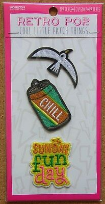 "Horizon RetroPop Set of 3-Seagull/Beverage Can ""Chill""/""Sunday Fun Day""  NIP"