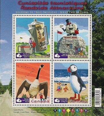 Canada Stamps - Souvenir Sheet - Roadside Attractions #2397 - MNH
