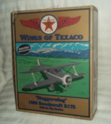 Wings Of Texaco Coin Bank Staggerwing 1939 Beechcraft D17S Special Edition Black
