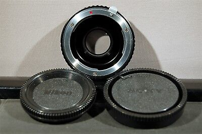 Pixco Lens Mount Adapter, Nikon F Lens to Sony Alpha A-Mount Camera, for Sony