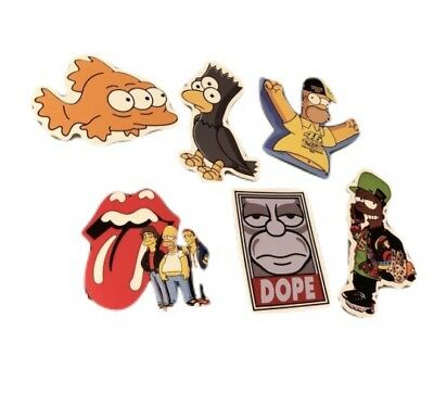 The Simpsons Sticker 2-3 Inch The Simpsons Laptop Decal Waterproof Stickers 6pcs