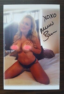 Michelle Baena worn lingerie and 4 x 6 signed photo