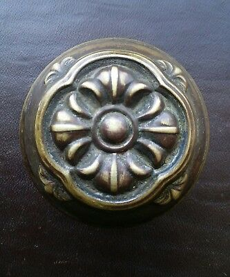 Beautiful Antique Victorian Eastlake Brass Door Knob