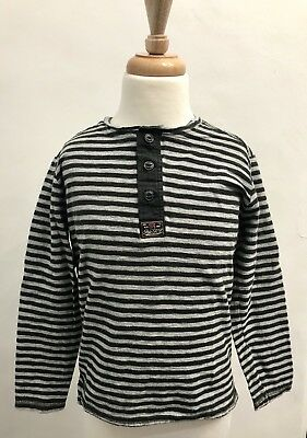 Polo Ralph Lauren Size 7 Boys Striped Shirt Long Sleeve Navy And Light Gray