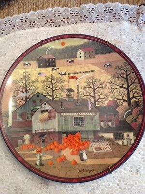 "Charles Wysocki Plate Antiques ""liberty star farms"" Peppercricket Grove plate"