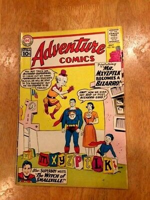 ADVENTURE COMICS #286 (July 1961 DC) BIZARRO MYXYZPTLK! Superboy Story also!