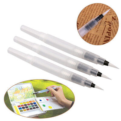 3pcs/Set Refillable Pilot Water Brush Ink Pen for Paint Calligraphy Watercolor.~