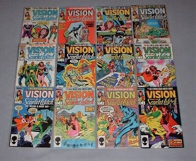 VISION AND SCARLET WITCH - 1985 twelve issue mini-series from Marvel Comics