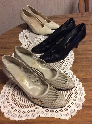 Lot -3 SELBY LEATHER DRESS PRINCESS HEELS SIZE 7-4APOINTED TOE