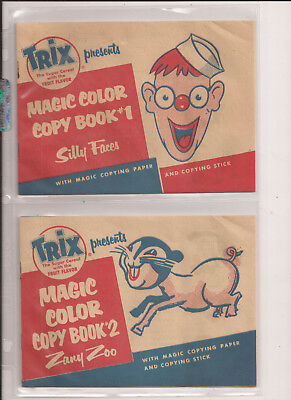 Trix Magic Color Copy Books  -  1957...complete Set Of 3...near Mint