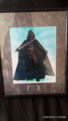 Star Wars Picture with Lucasfilm Certificate and frame Darth  Vader
