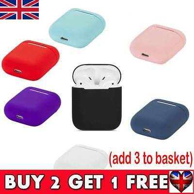 Silicone Airpods Protective Cover Case Slim Skin For Apple AirPod Earphones UK
