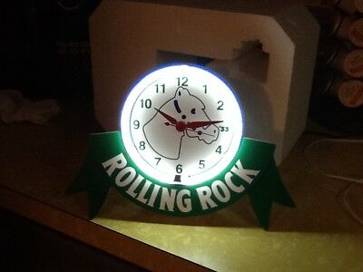 Vintage 1997 Rolling Rock Brewing Co. Back Bar Neon Clock