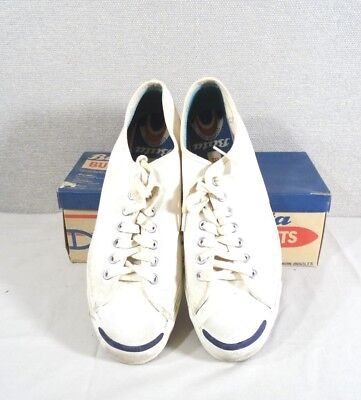 Vintage 1964 Mens Size 12 Bata Bullets White Sneakers With Original Box