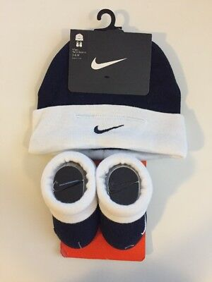 Nike Newborn Infant 0-6 Months Baby Clothes Toddler Booties Socks Beanie Hat Set