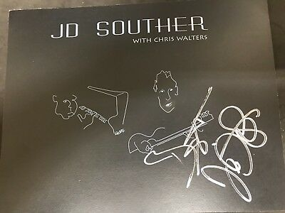 Singer & Songwriter JD Souther Artwork Autographed by JD! Perfect for framing!