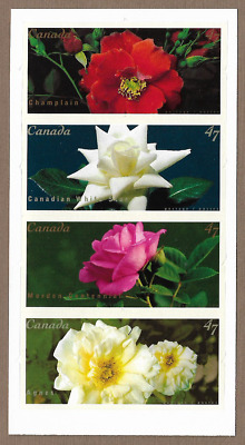 Canada Stamps — Pane of 4 — Flowers: Roses #1914a (1911-1914) — MNH