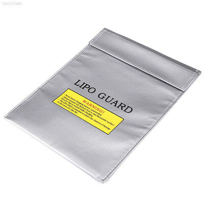 F6A4 LiPo Battery Fireproof Safety Guard Bags Double Sided Pouch 23x30CM Silver