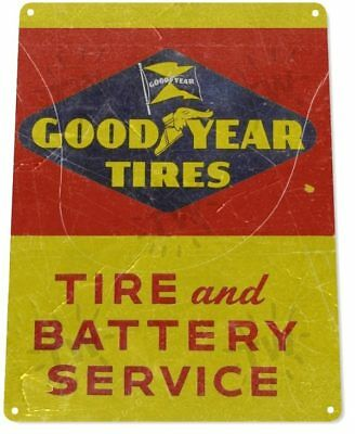 GoodYear Service Tire Gas Station Garage Retro Auto Wall Decor Metal Tin Sign