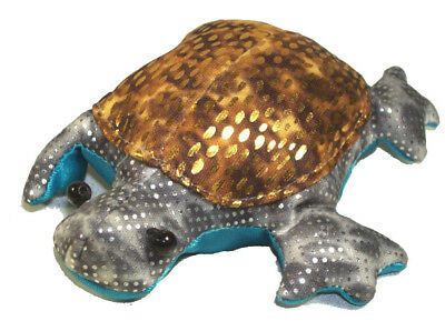 Mini Turtle Bean Bag New Copper Silver & Turqouise SO CUTE TO HAVE for KIDS