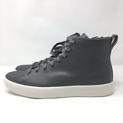 455c58ab91be6e Converse All Star Modern Hi Charcoal Leather Shoes Boots 156588C US Men s 10