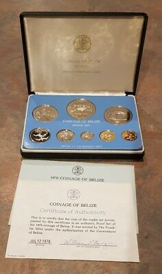 Belize proof coin set 1976 Franklin Mint with Certificate of Authenticity